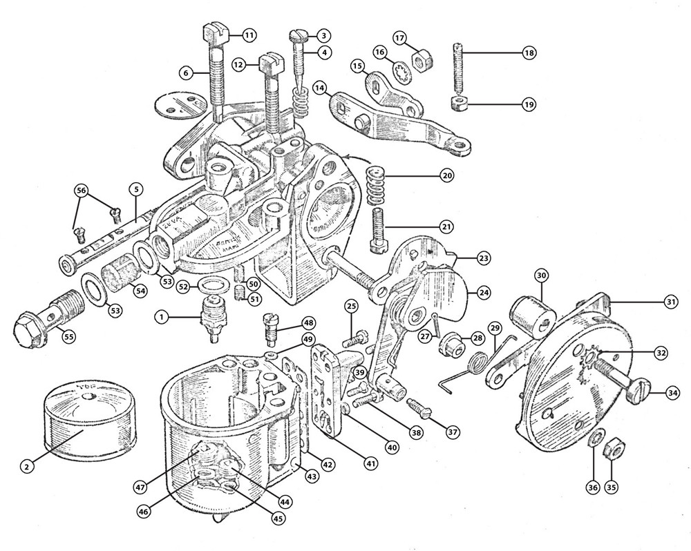 Zenith Carburetor Diagram 26 Enthusiast Wiring Diagrams Parts For Cs548 Austin Morris 7 H P Burlen Ltd Rh Zenithcarb Co Uk