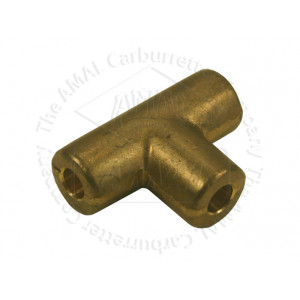 "Brass T-Piece - Solder Type 1/4"" Bore"